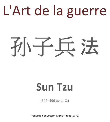 Soulève du Bouquin #3 – «L'Art de la guerre» de SunTzu.